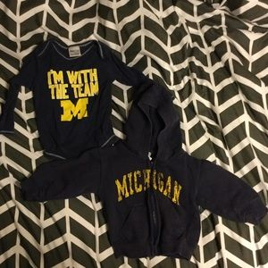 EUC Michigan Toddler Onesie and Hoodie